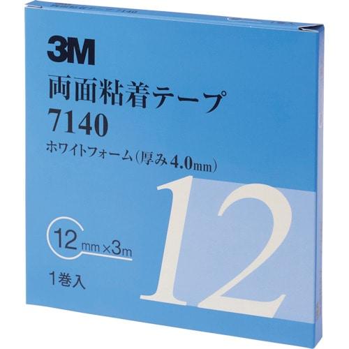 3M 両面粘着テープ 7140 12mmX3m 厚さ4.0mm 白_