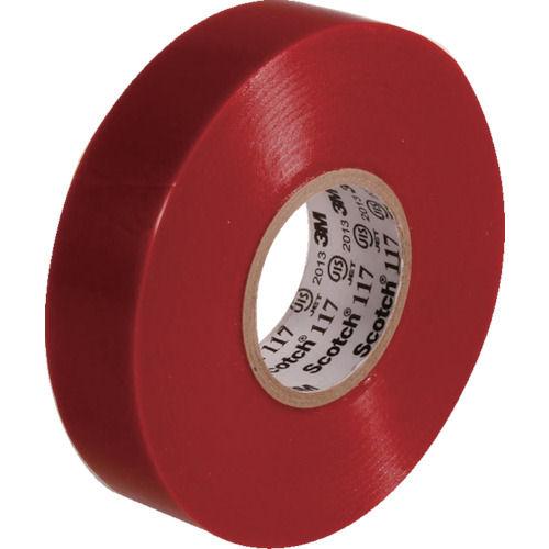 3M ビニールテープ 117 赤 19mmX20m 10巻入り_