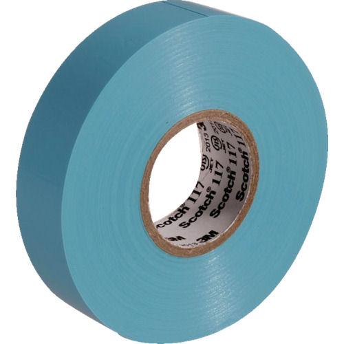 3M ビニールテープ 117 水色 19mmX20m 10巻入り_
