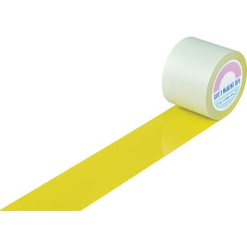 緑十字 ガードテープ(ラインテープ) 黄 100mm幅×20m 屋内用_