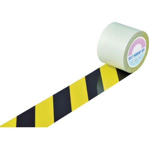 緑十字 ガードテープ(ラインテープ) 黄/黒(トラ柄) 100mm幅×20m_