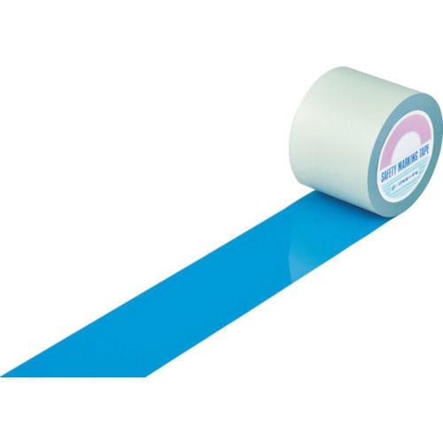 緑十字 ガードテープ(ラインテープ) 青 100mm幅×20m 屋内用_
