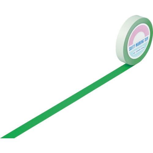 緑十字 ガードテープ(ラインテープ) 緑 25mm幅×100m 屋内用_