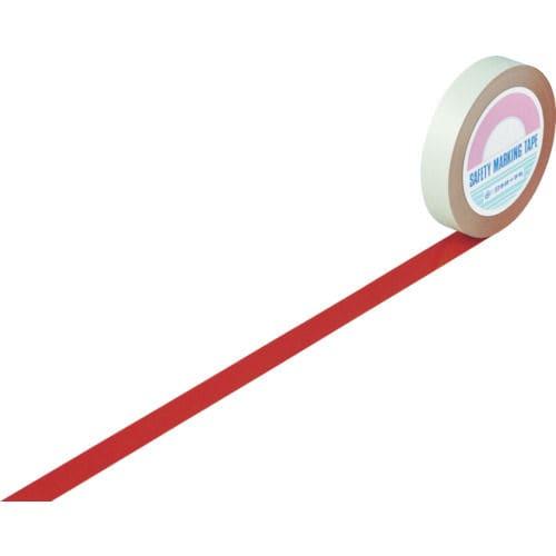 緑十字 ガードテープ(ラインテープ) 赤 25mm幅×100m 屋内用_