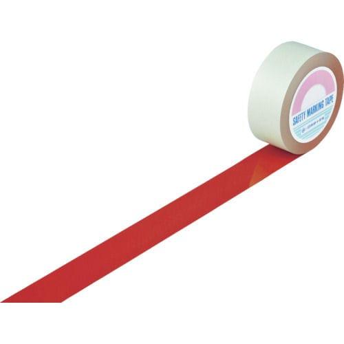 緑十字 ガードテープ(ラインテープ) 赤 50mm幅×100m 屋内用_