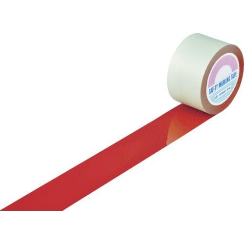 緑十字 ガードテープ(ラインテープ) 赤 75mm幅×100m 屋内用_