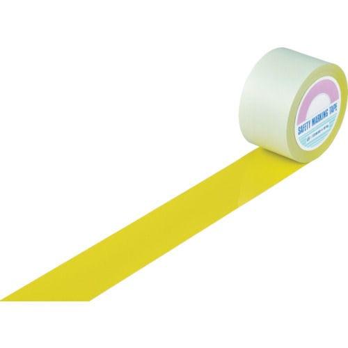 緑十字 ガードテープ(ラインテープ) 黄 75mm幅×100m 屋内用_