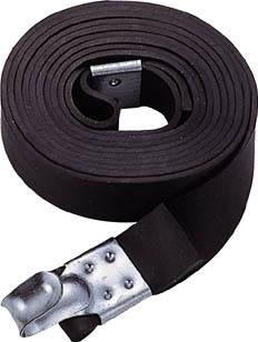 TRUSCO ゴムロープ金具付 幅20mmX長さ1.5m_