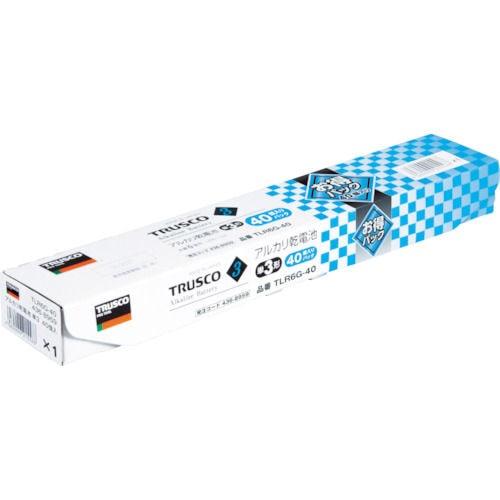 TRUSCO アルカリ乾電池 単3 お得パック 40個入_