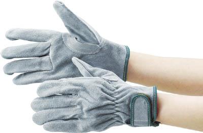 TRUSCO オイル加工革手袋 マジック式 Lサイズ_