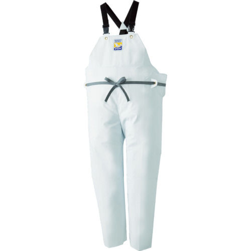 ロゴス マリンエクセル 胸当て付きズボン膝当て付きサスペンダー式 ホワイトLL_