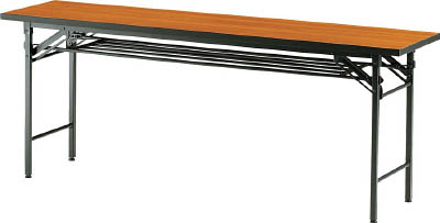 TRUSCO 折りたたみ会議テーブル 1800X600XH700 チーク_