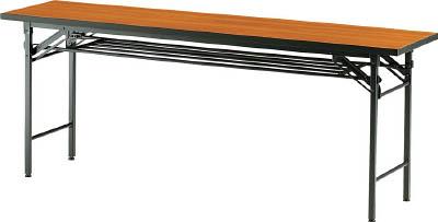 TRUSCO 折りたたみ会議テーブル 1800X450XH700 チーク_