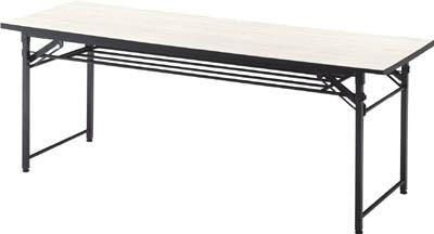 TRUSCO 折りたたみ会議テーブル 1800X450XH700 アイボリ_