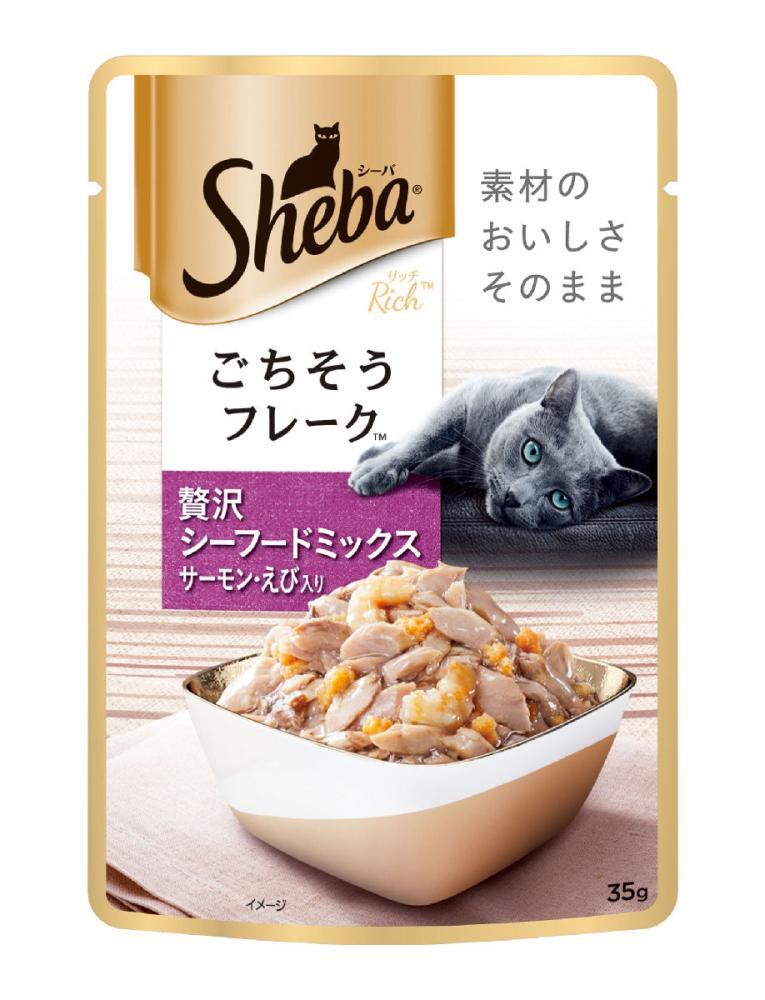 シーバ リッチ ごちそうフレーク 贅沢シーフードミックス サーモン・えび入り 35g