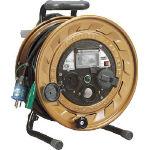 ハタヤ メタルセンサー(金属感知機能付)リール 単相100V接地付 30m_