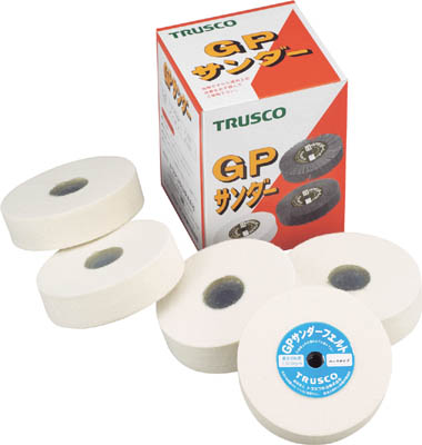 TRUSCO GPサンダーフェルト ねじ込み式 Φ100 5個入 ハード_