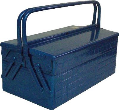 TRUSCO 2段式工具箱 412X220X289 ブルー_
