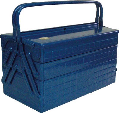 TRUSCO 3段式工具箱 412X220X343 ブルー_