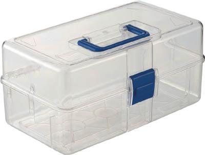 TRUSCO 透明工具箱 中皿なし フリータイプ_