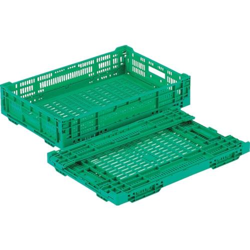 リス RSコンテナーRS-MM22(薄型折りたたみコンテナー) 緑_