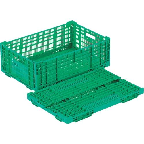 リス RSコンテナーRS-MM38(薄型折りたたみコンテナー) 緑_