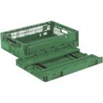 リス RSコンテナーRS-MM17S(薄型折りたたみコンテナーワンタッチ) 緑_