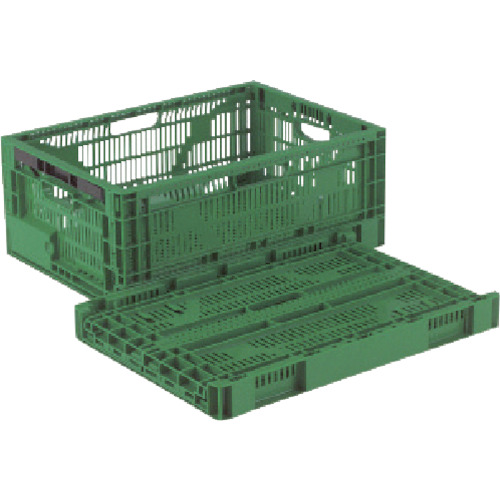 リス RSコンテナーRS-MM27S(薄型折りたたみコンテナーワンタッチ) 緑_