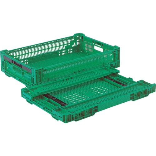 リス RSコンテナーRS-MM24S(薄型折りたたみコンテナーワンタッチ) 緑_