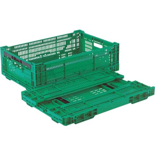 リス RSコンテナーRS-MM33S(薄型折りたたみコンテナーワンタッチ) 緑_