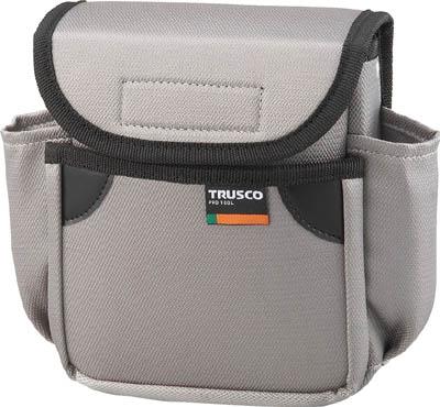 TRUSCO 小型腰袋 二段フタ付 グレー_