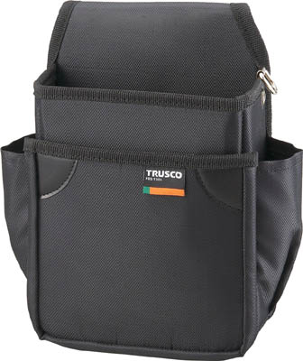 TRUSCO 小型腰袋 二段 ブラック_
