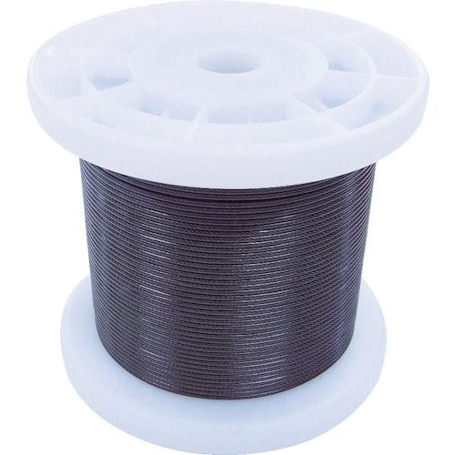 ニッサチェイン 黒コーティングワイヤロープ 0.85mm×100m 1巻_