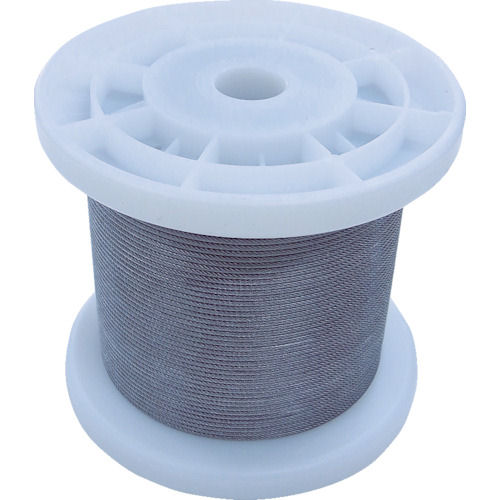 ニッサチェイン 透明コーティングワイヤロープ 0.85mm×100m 1巻_