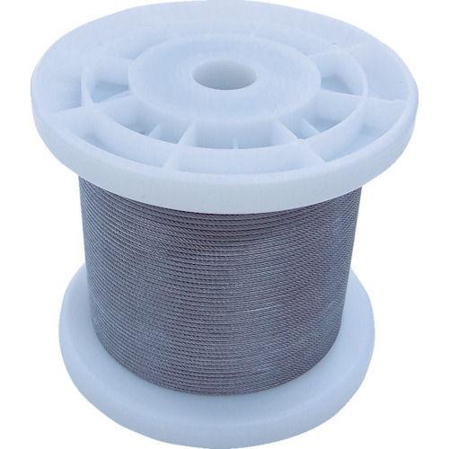 ニッサチェイン 透明コーティングワイヤロープ 1.2mm×100m 1巻_