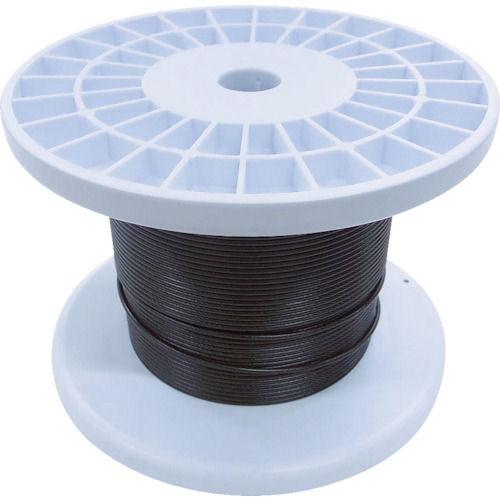 ニッサチェイン 黒コーティングワイヤロープ 2.0mm×100m 1巻_