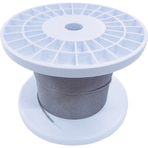 ニッサチェイン 透明コーティングワイヤロープ 2.0mm×100m 1巻_