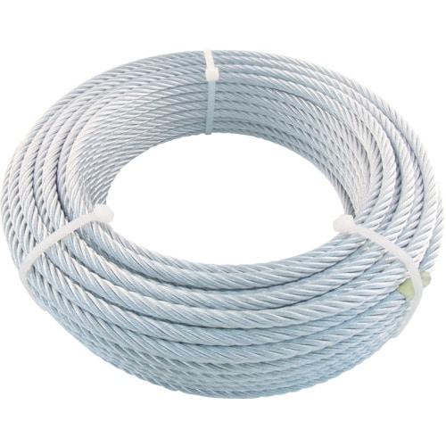 TRUSCO JIS規格品メッキ付ワイヤロープ (6X24)Φ9mmX50m_