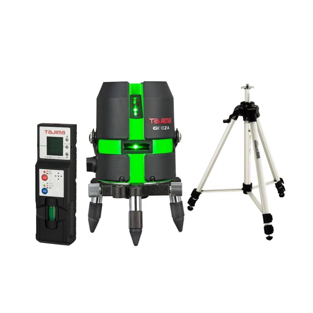 タジマ(TJMデザイン) レーザー墨出し器 GEEZA-KYR 受光器・三脚セット    GZA-KYRSET