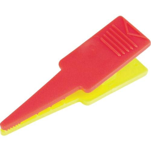 TRUSCO ロッドクリップ 赤/黄色 4個入_
