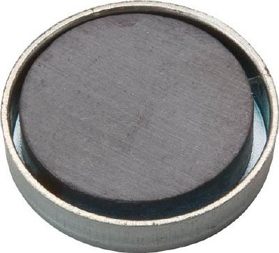 TRUSCO キャップ付フェライト磁石 外径17.5mmX厚み5mm 1個入り_