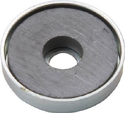 TRUSCO キャップ付フェライト磁石 外径22.8mmX厚み5.2mm1個入_
