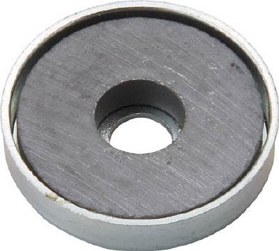 TRUSCO キャップ付フェライト磁石 外径25.5mmX厚み5mm 1個入り_
