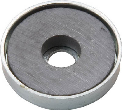 TRUSCO キャップ付フェライト磁石 外径31.5mmX厚み4.7mm1個入_