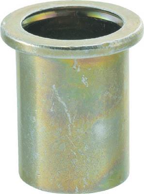 TRUSCO クリンプナット平頭ステンレス 板厚4.0 M8X1.25 100入_