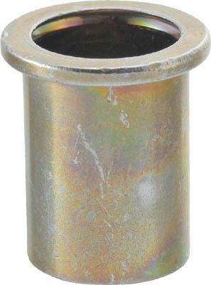 TRUSCO クリンプナット平頭スチール 板厚2.5 M6X1.0 (26個入)_