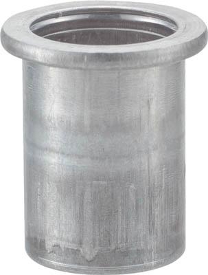 TRUSCO クリンプナット平頭アルミ 板厚4.0 M6X1.0 (22個入)_