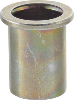TRUSCO クリンプナット平頭スチール 板厚4.0 M8X1.25 500個入_