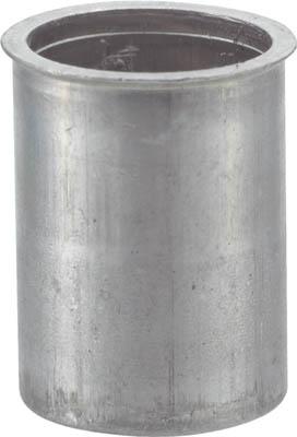 TRUSCO クリンプナット薄頭アルミ 板厚2.5 M6X1 (21個入)_