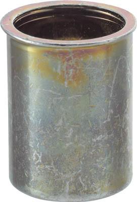 TRUSCO クリンプナット薄頭スチール 板厚2.5 M6X1.0 (23個入)_